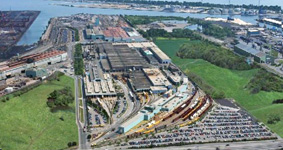 National Steel Car building aerial shot image